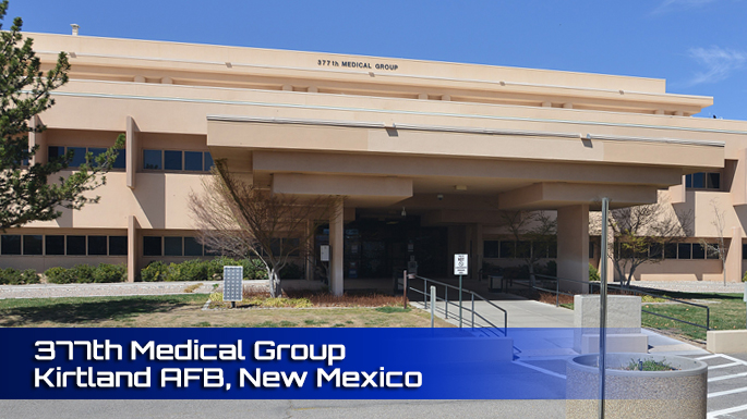 Kirtland AFB 377th Medical Group Clinic screenshot