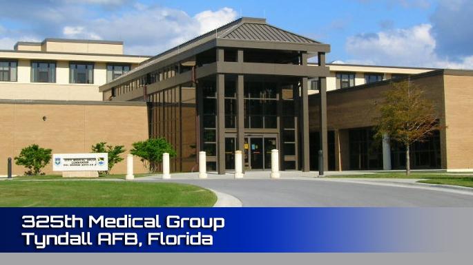 325th Medical Group Tyndall AFB clinic screenshot.