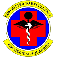61st Medical Squadron Emblem