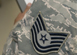 A picture of an Airman's rank on their uniform.