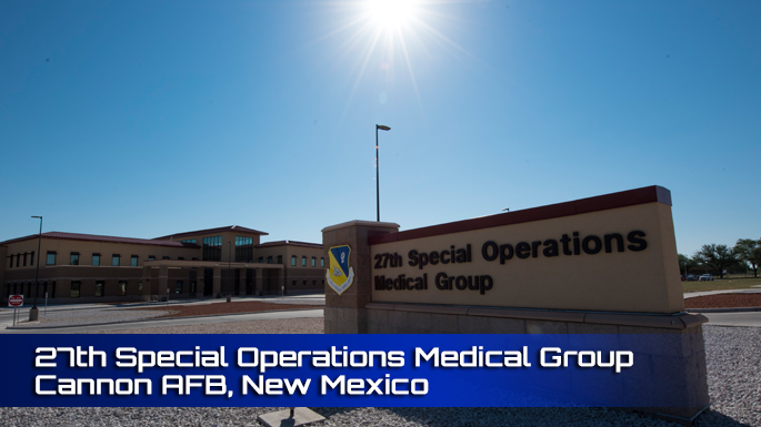 27th Special Operations Medical Group Cannon AFB clinic screenshot.