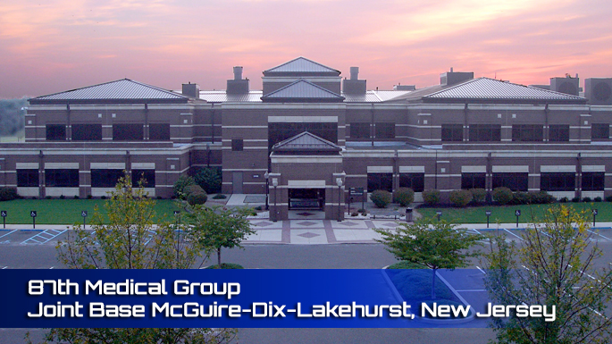 Joint Base McGuire-Dix-Lakehurst 87th Medical Group Clinic screenshot