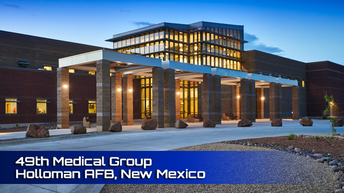 Holloman AFB 49th Medical Group Clinic Screenshot.