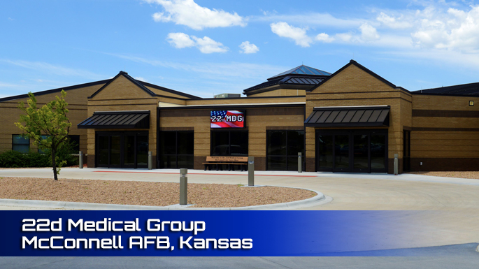 McConnell AFB 22nd Medical Group Clinic screenshot.