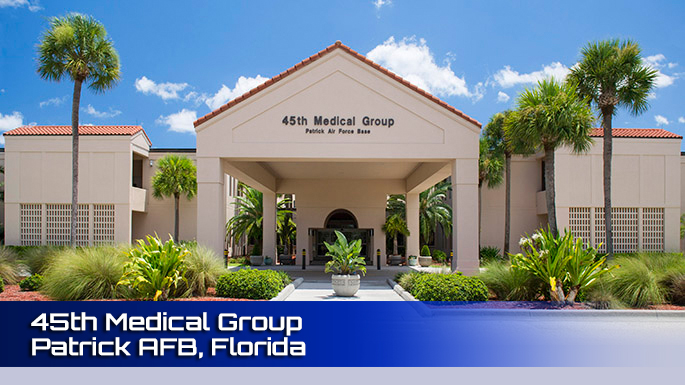 45th Medical Group Patrick AFB clinic screenshot