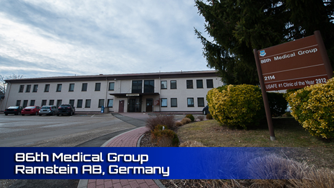 86th Medical Group Ramstein Air Base Clinic Screenshot
