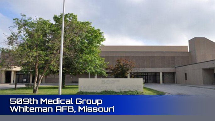 509th Medical Group Whiteman AFB clinic screenshot.