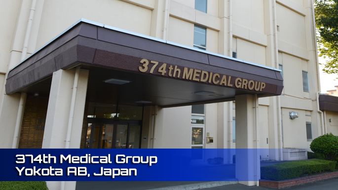 374th Medical Group Yokota AFB Clinic Screenshot