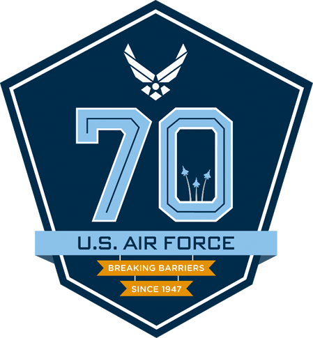 Air Force 70th Birthday Emblem.